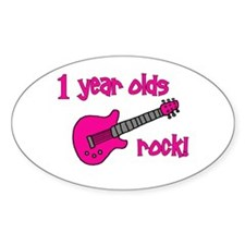 1 year olds Rock! Decal