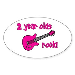 2 Year Olds Rock! Decal