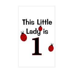 Little Lady Is 1! Decal