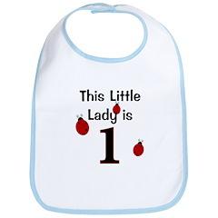 Little Lady Is 1! Bib