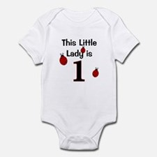Little Lady Is 1! Infant Bodysuit
