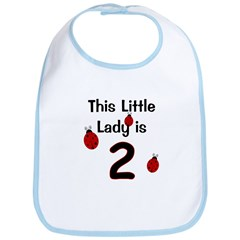 Little Lady Is 2! Bib