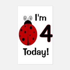 Ladybug I'm 4 Today! Decal