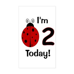 Ladybug I'm 2 Today! Decal