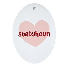 Stabyhoun Oval Ornament