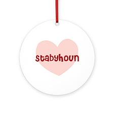 Stabyhoun Ornament (Round)