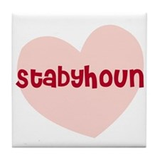 Stabyhoun Tile Coaster