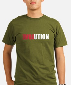 Evolution Love Organic Men's T-Shirt (dark)