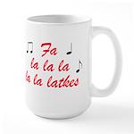 Fa La la la la la latkes Large Mug
