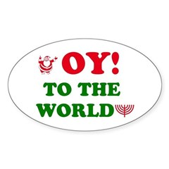 Oy to the World Decal