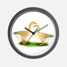 Buff Geese #2 Wall Clock