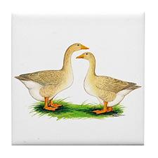 Buff Geese #2 Tile Coaster
