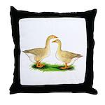 Buff Geese #2 Throw Pillow