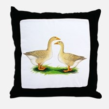 Buff Geese #2 Throw Pillow