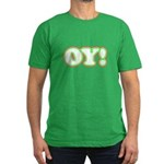 Christmas Oy! Men's Fitted T-Shirt (dark)