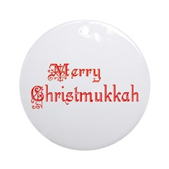 Merry Christmukkah Ornament (Round)