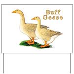 Buff Geese #5 Yard Sign