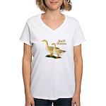 Buff Geese #5 Women's V-Neck T-Shirt
