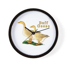 Buff Geese #5 Wall Clock