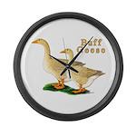 Buff Geese #5 Large Wall Clock