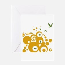 Birds In Spherical Flight Greeting Card