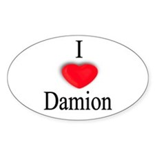 Damion Oval Decal
