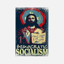 Democratic socialism Rectangle Magnet