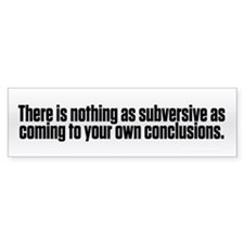 Subversive Conclusions Car Sticker