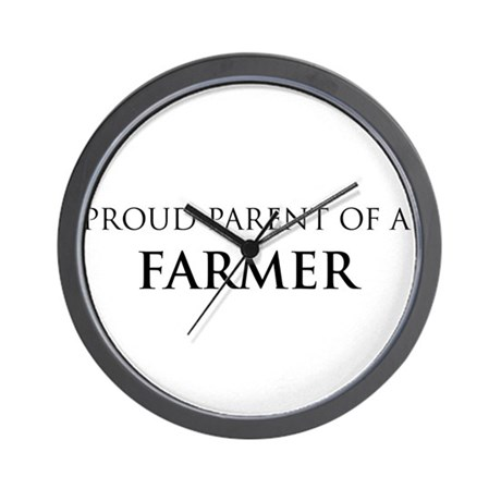 Proud Parent: Farmer Wall Clock