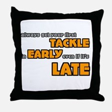 Tackle Early Rugby Humor Throw Pillow
