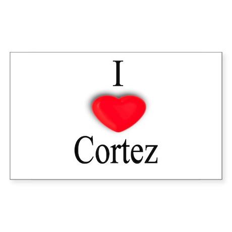 Cortez Rectangle Sticker