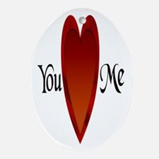 You Love Me Oval Ornament