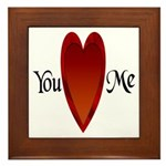 You Love Me Framed Tile