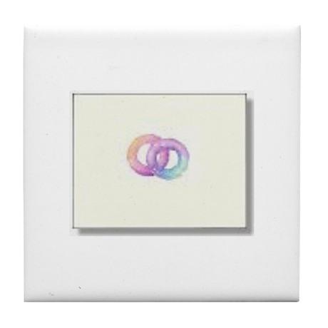 Rainbow Rings Tile Coaster