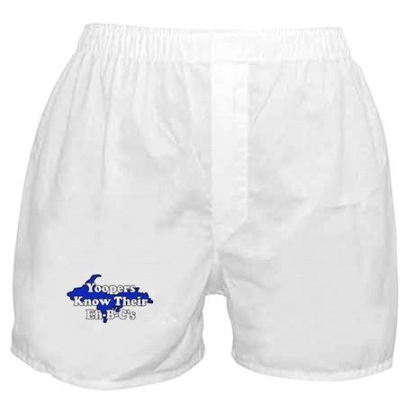 Yoopers Know Their Eh B C's Boxer Shorts