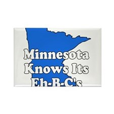 Minnesota Knows Its Eh B C's Rectangle Magnet
