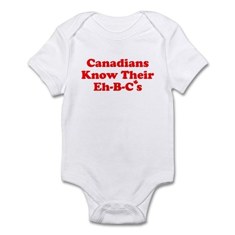Canadians Know Their Eh B C's Infant Bodysuit