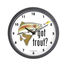 """Got Trout?"" Wall Clock"