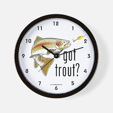 """""""Got Trout?"""" Wall Clock"""