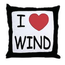 I heart wind Throw Pillow