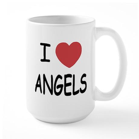 I heart angels Large Mug