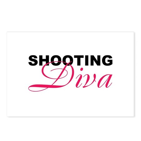 Shooting Diva Postcards (Package of 8)