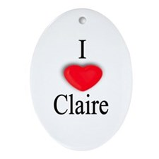 Claire Oval Ornament