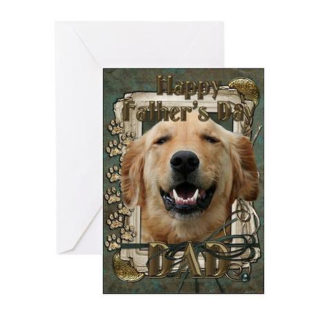 Stone Paws Golden Retriever Greeting Cards (Pk of
