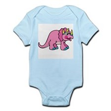 Pink Dinosaur Infant Creeper