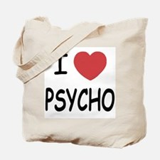 I heart psycho Tote Bag