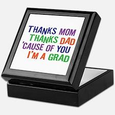 Thanks I'm a GRAD Keepsake Box