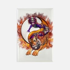 Dragon Tiger Yin Yang Rectangle Magnet