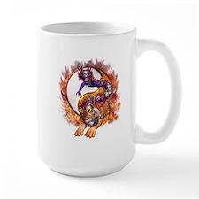 Dragon Tiger Yin Yang Mug