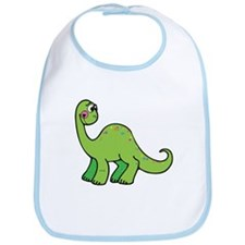 Green Dinosaur Bib